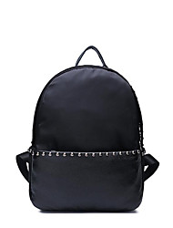 Кожаный черный рюкзак для путешествий