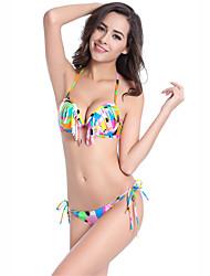 Women's Fashion Sexy Padded Tassels Bikinis