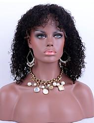 chaud vente avant de dentelle de cheveux humains perruques de cheveux bouclés vierges péruviennes coquins 100% perruques de dentelle
