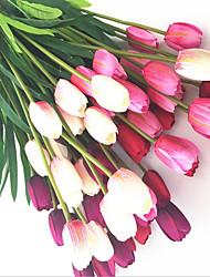 1 Ramo Seda Tulipas Flores artificiais 53