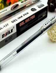 1 Box of  Gel Ink Pen Student Test Pen 0.5mm 12pcs per Box
