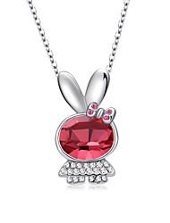 Women's Pendant Necklaces Jewelry Animal Shape Jewelry Crystal Rhinestone Alloy Unique Design Love Euramerican Fashion Jewelry 147Party
