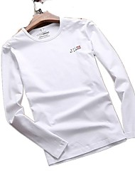 Homme Tee-shirt Respirable Printemps Blanc Gris Noir Bleu