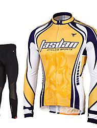 TASDAN Maillot et Cuissard Long de Cyclisme Homme Manches longues VéloPantalon/Surpantalon Maillot Collants Hauts/Tops Ensemble de