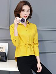 Blusen 2017 Frühling neue koreanische schlanke Normallack Langarmshirt war dünne Frühling Spitze Shirt Student