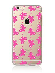 Para Transparente Diseños Funda Cubierta Trasera Funda Mariposa Suave TPU para AppleiPhone 7 Plus iPhone 7 iPhone 6s Plus iPhone 6 Plus