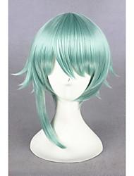 curta luz verde do reino de dormir e 100 príncipes 14inch anime cosplay peruca sintética cs-273d