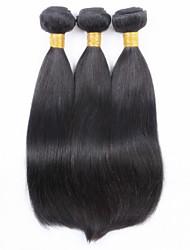 """3pcs / lot estoque 100g 8 """"-32"""" remy brasileiro de 100% cabelo humano tece extensão da trama do cabelo reto tecer"""