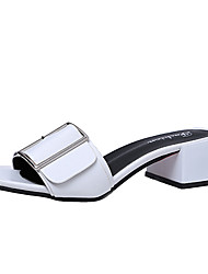 Women's Sandals Summer Light Soles PU Casual Low Heel Buckle