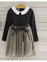Girl's Casual/Daily Holiday Solid Dress,Polyester Spring Fall