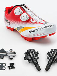 Sneakers Cycling Shoes With Pedal & Cleat Unisex Cushioning Mountain Bike Outdoor