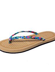 Women's Slippers & Flip-Flops Summer Comfort Fabric Outdoor Casual Flat Heel Walking