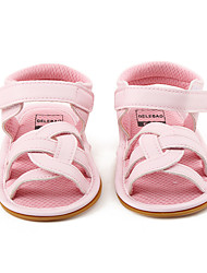 Kids' Sandals Summer Flower Girl Shoes First Walkers PU Party & Evening Dress Casual Flat Heel Split Joint