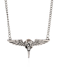 Wing Gear Steampunk Necklace Vintage Gothic Jewelry-Skeleton Bird Wing