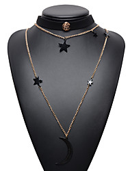 Women's Choker Necklaces Jewelry Jewelry Gem Alloy Euramerican Fashion Jewelry For Graduation Gift Casual 1pc