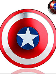 Tri-Spinner Fidget Alloy Captain America Shield Puzzle Toys EDC Fidgets Hand Spinner Autism ADHD Finger Gyro Kids Adult Toy --1 PCS