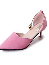 Women's Flats Summer Ballerina Fleece Outdoor Office & Career Casual Flat Heel Pearl Walking