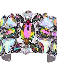 Femme Manchettes Bracelets Bijoux Mode Vintage Style Punk Gemme Alliage Forme Géométrique Or Arc-en-ciel Bijoux Pour Occasion spéciale 1pc