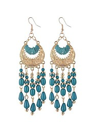 Imitation Opal Drop Earrings Jewelry Tassels Wedding Party Casual Alloy 1 pair Black White Red Blue