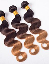 Blonde #1B/4/27 Brazilian virgin hair ombre 3 Bundles Ombre Hair Extensions blonde weave ombre brazilian hair ombre human hair for Woman