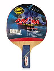 4 étoiles Tennis de table Raquettes Ping Pang Bois Manche Court Boutons Intérieur Utilisation-Autre