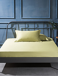 turqua High Thread count 100% Egyptian Cotton Solid Style Bedding Sheet Environmental Friendly Fitted Sheet for Bedroom/hotel