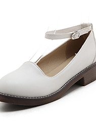 Heels Spring Summer Fall Winter Club Shoes PU Office & Career Party & Evening Dress Low Heel Buckle