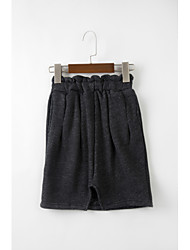 Girls' Casual/Daily Solid Skirt-Wool Polyester Spring