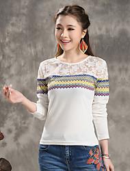 2015 hitz кружево сшивание геометрическая печать футболка нижняя женская 51 140 307
