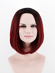 Europe and the United States new fashion wig short hair  breathable wig black Brown Red omber  Synthetic Fiber wig