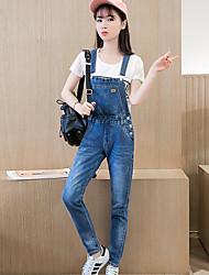 Sinal 2017 primavera e outono nova versão coreana da tendência de moda casual de algodão fino fino denim
