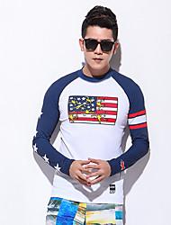 Esportivo Homens Respirável Secagem Rápida Design Anatômico Náilon Chinês Fato de Mergulho Manga Comprida Blusas-Natação MergulhoVerão