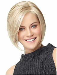 Fashion Natural Short Blonde Straight Wig For Women Synthetic Wigs