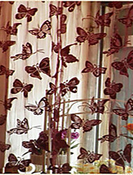 One Panel Curtain Country Neoclassical , Solid Living Room Polyester Material Door Panel Curtains Drapes Home Decoration For Window