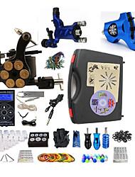 Komplettes Tattoo Kit 1 x Stahl-Tattoomaschine für Umrißlinien und Schattierung 2 x-Legierung Tattoo Maschine für Futter und Schattierung