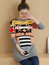 Modell real shot schwangere Frauen Pullover koreanischen losen Pullover Hedging Mutterschaft Winter langen Abschnitt