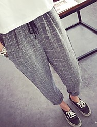 2015 new fall loose, casual cotton blend harem pants drawstring pants feet pants trousers pants
