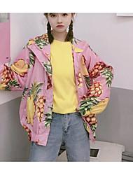 O novo verdadeiro tiro protetor solar roupas casaco de abacaxi fruto impressão jaqueta com capuz tem um forro