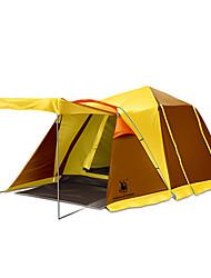 3 a 4 Personas Tienda Doble Tiendas de Campaña Familiares Dos Habitaciones Carpa para camping Portátil De Gran Tamaño-Camping Viaje-
