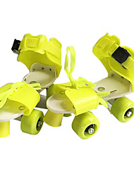 Kid's Inline Skates Breathable Wearproof Adjustable Yellow/Ruby/Green/Blue/Blushing Pink