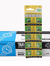 TMI AG3 Coin & Button Cell Cardon Zinc Battery 1.55V 10 Pack
