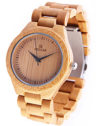 Women's Wrist watch Casual Watch Wood Watch Japanese Quartz Japanese Quartz Wooden Wood Band Charm Yellow