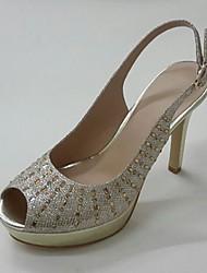 Women's Sandals Spring Summer Club Shoes Glitter Wedding Party & Evening Dress Stiletto Heel Platform Rhinestone