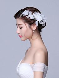 Papél Organza Tecido Capacete-Casamento Ocasião Especial Casual Flores Acessórios para Cabelos Clip para o Cabelo 1 Peça