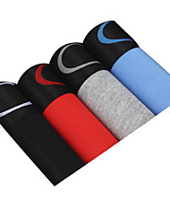 4Pcs/Lot Men's Fashion Sexy Boxers Underwear Cotton Modal Panties