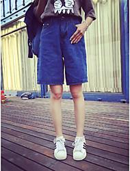 la nouvelle école de vent lâche était mince pantalons en denim foncé version coréenne de pantalons chauds pantalons larges jambes shorts
