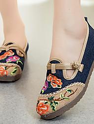 X05 # sapatos femininos inclinação com vento nacional sapatos bordados sapatos de salto alto sapatos velhos chinês chinese style chinese