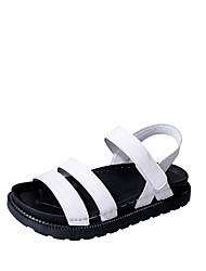 Women's Sandals Summer Mary Jane Leatherette Outdoor Dress Casual Flat Heel Hook & Loop Walking