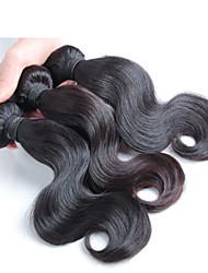 aucun rejet et pas de cheveux enchevêtrement de remy malaisienne vierge, 3 pièces / lot pas cher cheveux brésiliens tissant