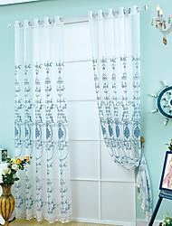 1 панель Окно Лечение Неоклассицизм европейский Гостиная Полиэстер материал Занавески Оттенки Украшение дома For Окно